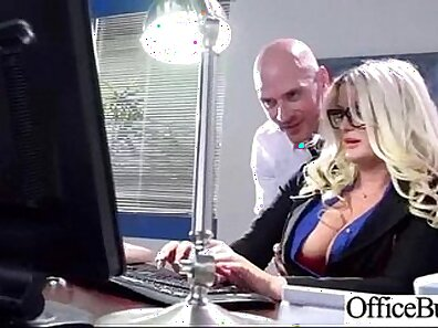 Big boobed slut summers gets fucked in the office