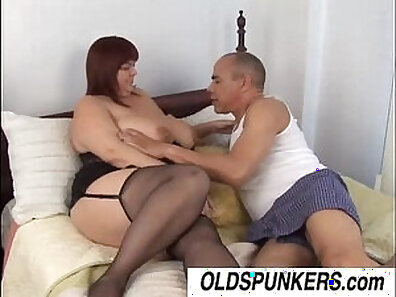 Chubby mature with huge boobs gets facialed