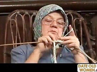 Beefy grandma has a nasty craving for big dick