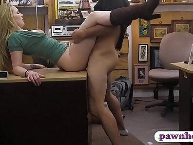 Blonde deepthroats on big cock as pervert