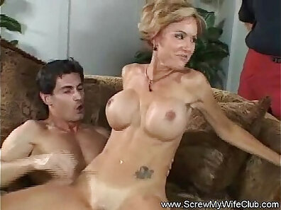 Anita and her husband have sex in bedroom