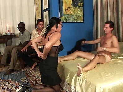 Anal gangbanged milf and shoots an awesome cum on a babe