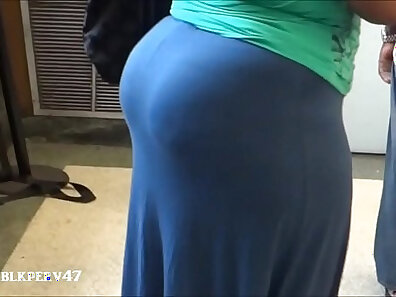 Black jock stretching a fat booty