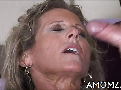 Unusual busty mature takes her first BJ