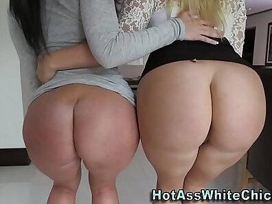 Bubble Butt Sluts Share A Huge Cock