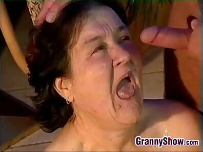 Granny Wants Hot Sandwich To Pass The Cocks
