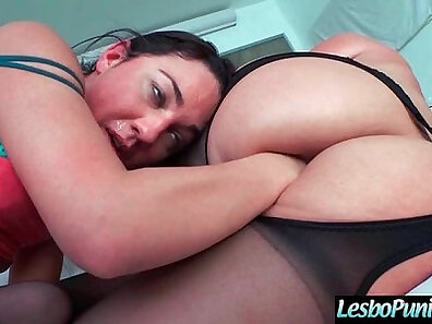 Pulled Lesbian Dildo Fist Fucked by Poor Girl FINGERS own