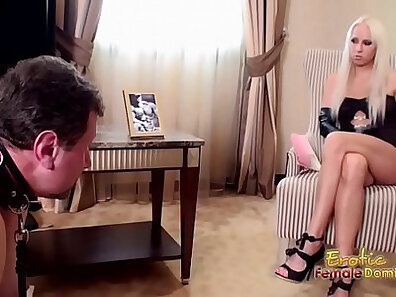 Classy slave Cindy Paris gets wet by kinky teacher