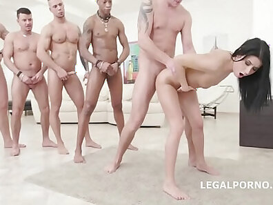 Alyna gets anal orgy with guys