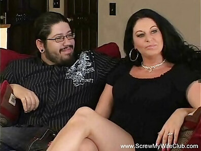 Brunette Sexy MILF Lady Fucked by Cuckold
