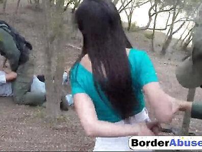 Brunette Mandy sucks a big cock outdoors