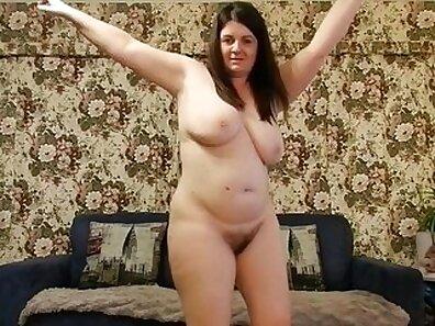 BBW busty sexy striptease on webcam