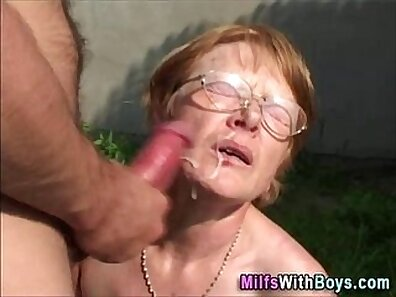 Stepsister and granny cumshot classy style