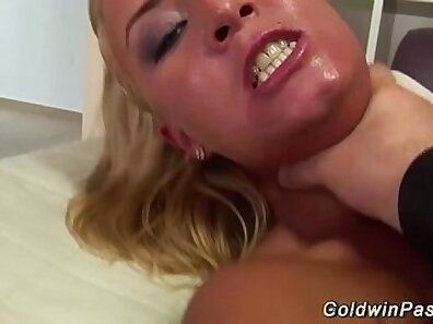 Lesbians flexing and fisting on sofa topped cotton panties