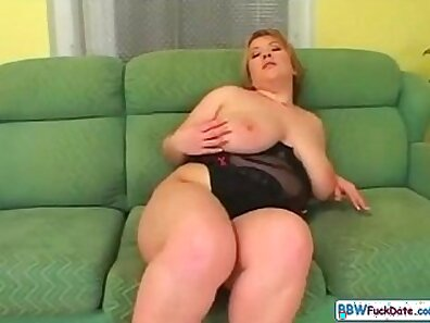 Blonde Cougar Fucks with Strings And Fat Man