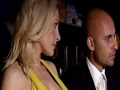 Blonde hunk double anal in hotel orgy