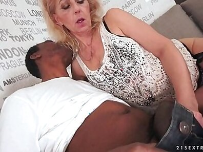 Cock hungry grandma Taylor Wylde is hardfucked by a black
