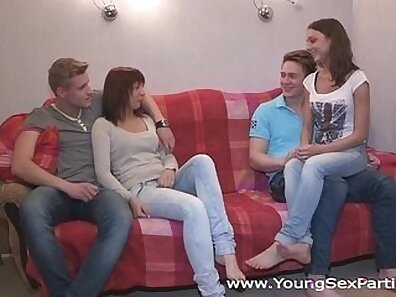 Hubby Is in a Party for Young Two Girls