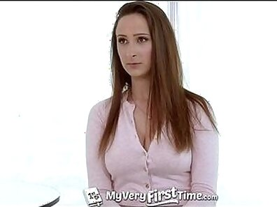 Gorgeous blonde Angela gets gangbanged by her friend