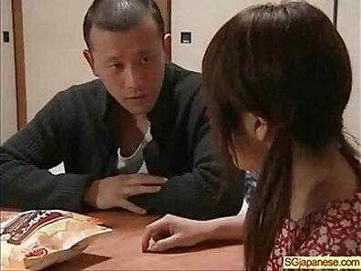 Asian School Girl Both Belts Suck & Fuck Dick Outside