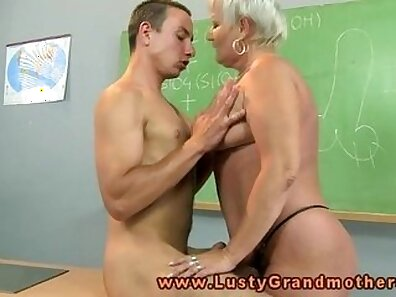 Real amateur granny with big boobs fucked by her teacher