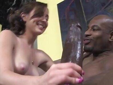 Angry Slut Takes Interracial Anal Blowjob
