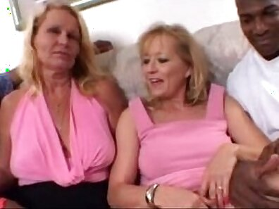 Blonde moms love to have sex and share a cock in threeway