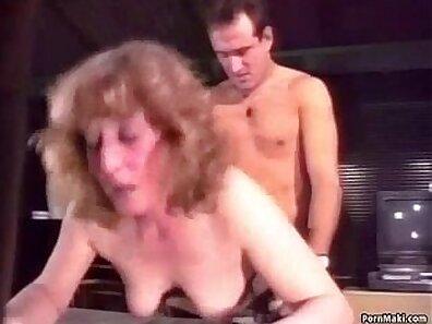 Blonde granny Kendzie Palmer gets assfucked