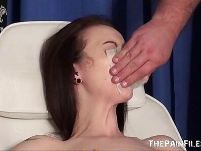 Bondage and beauty slave stunner gagged and doctors