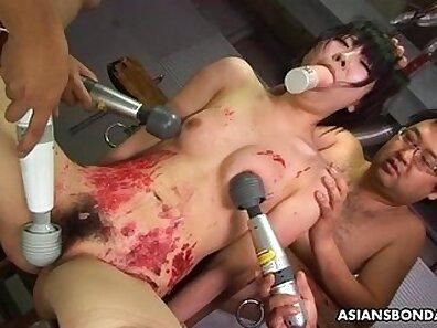 Jojo rides a big dildo assfull of cock