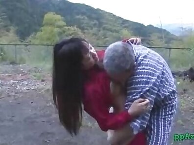 Asian maid gets an injection of cum after pussy licking