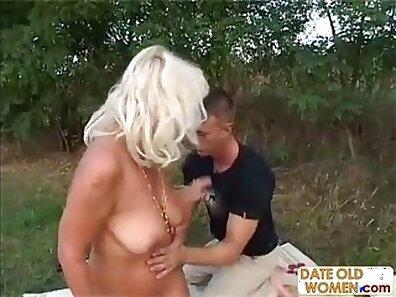 MILF Grandma Banged Outdoor With Nurse