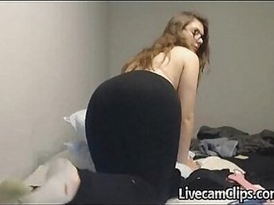 Amateur Teen CAM Rides The Miter