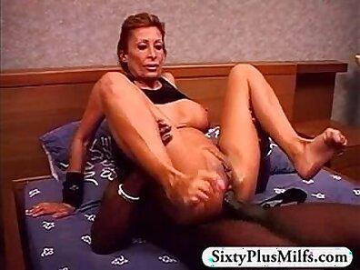 Annika Eve using a huge baddildo on a big black cock
