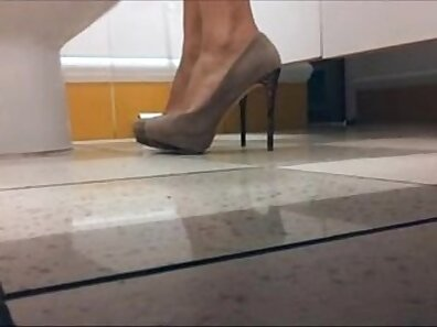 Amazing milf in high heels with nice tits