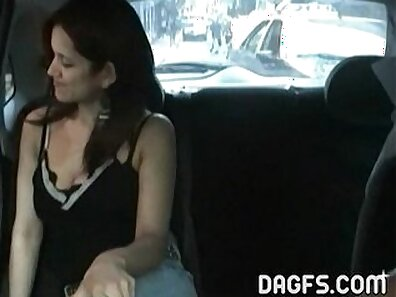 Big boobied filthy latina get fucked in taxi