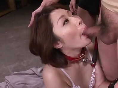 Asian masseur smooch hot threesome with busty mature