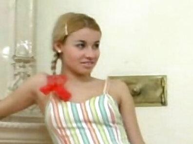 horny Teen stepsister seduced by stepmaid
