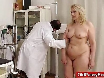 BBW MILF giving medical exam on TLC