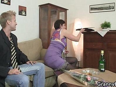 Granny Slut Ass Slam Sucked By BBC