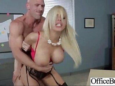 Big boob riding at the office