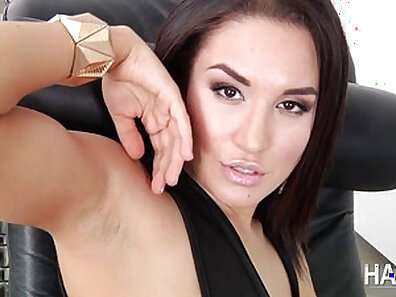 Brunette tramp Lily Duarte wants to get her ass slapped with a large cock