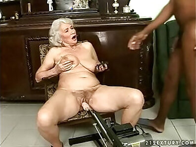 CD Granny Gets Creamed All Over And Interracial